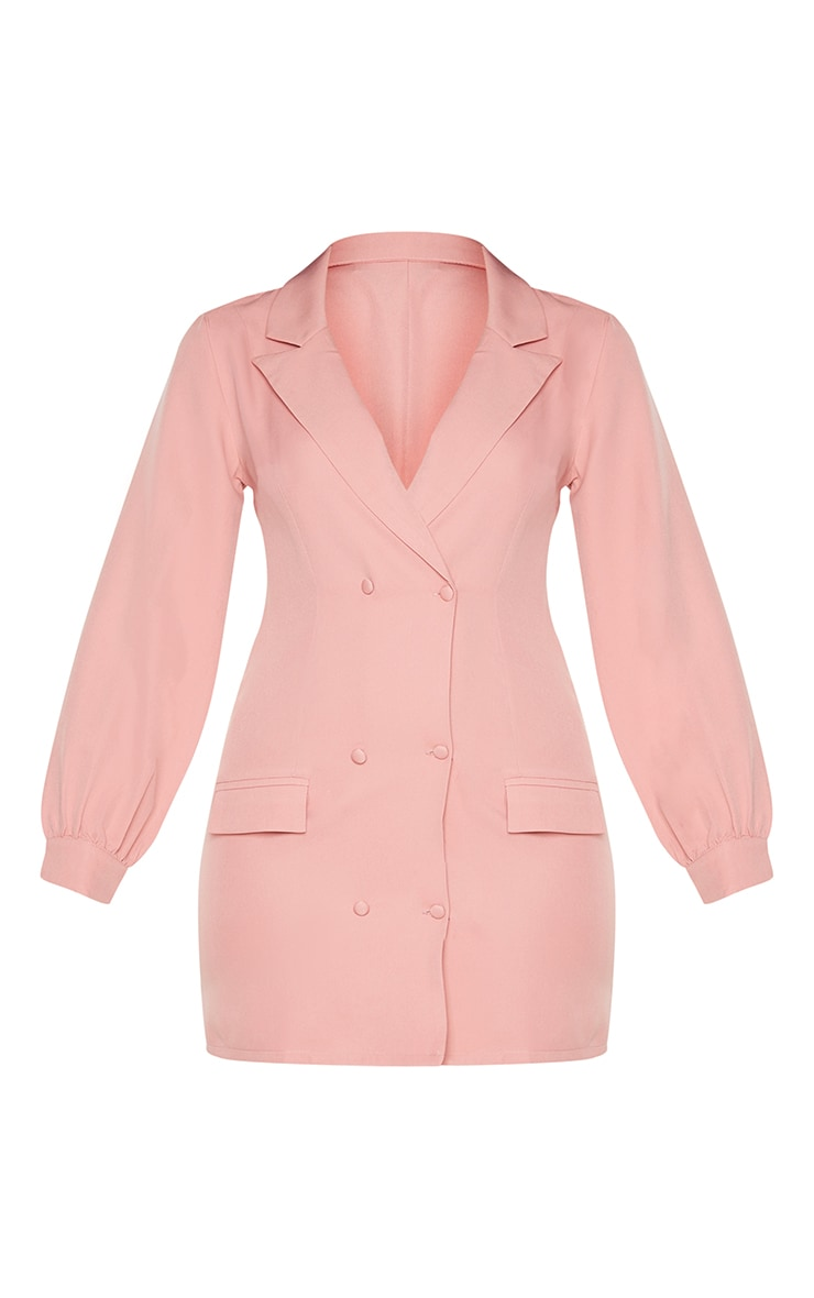 Rose Woven Double Breasted Blazer Dress 5