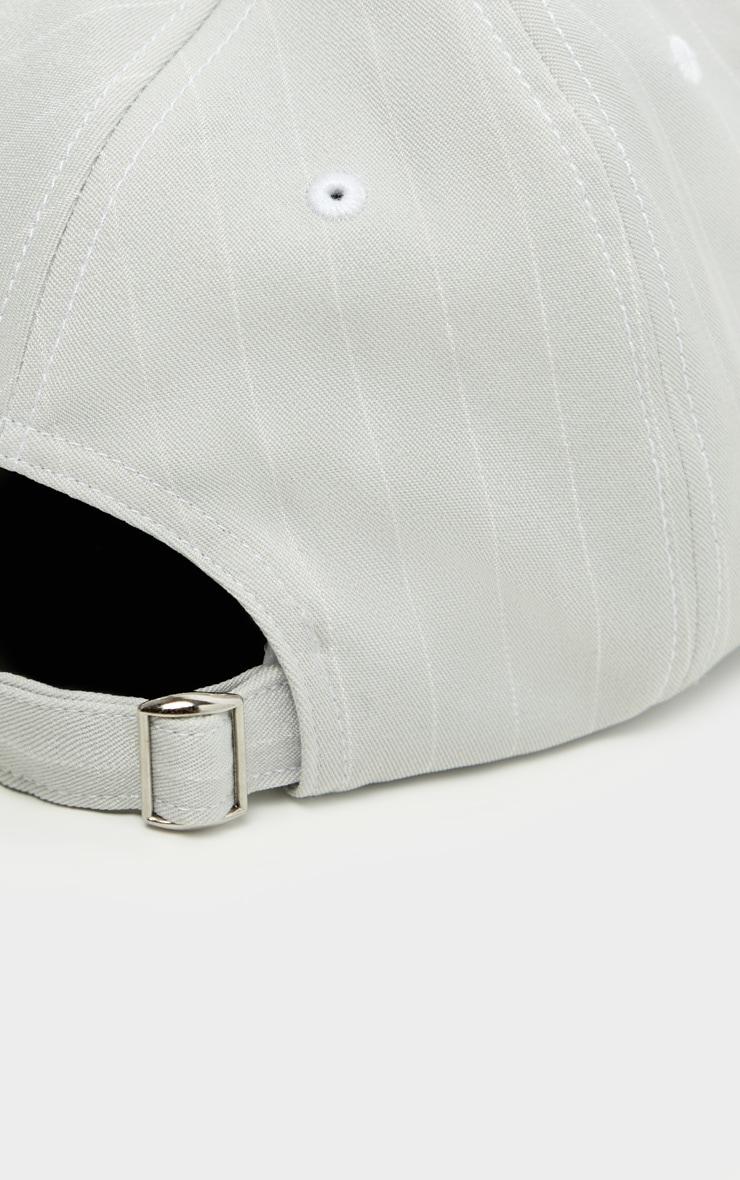 Mint Pinstripe Baseball Cap 3