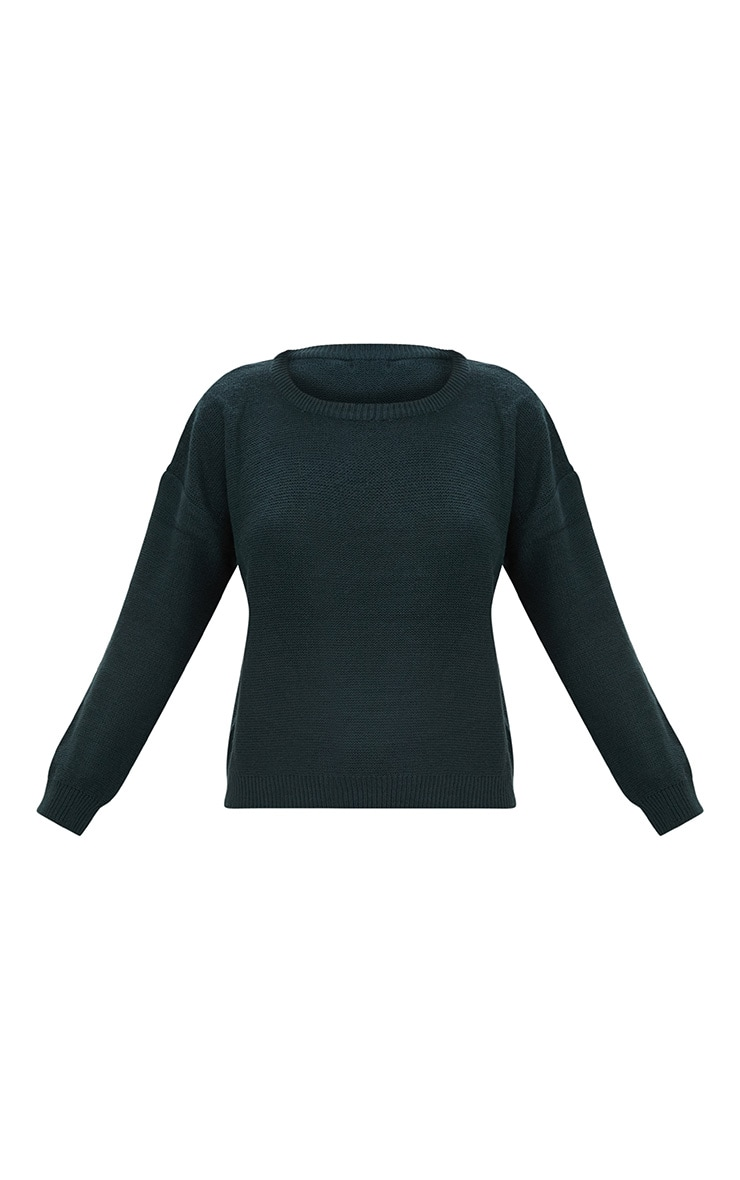 Forest Green Boxy Basic Jumper 3