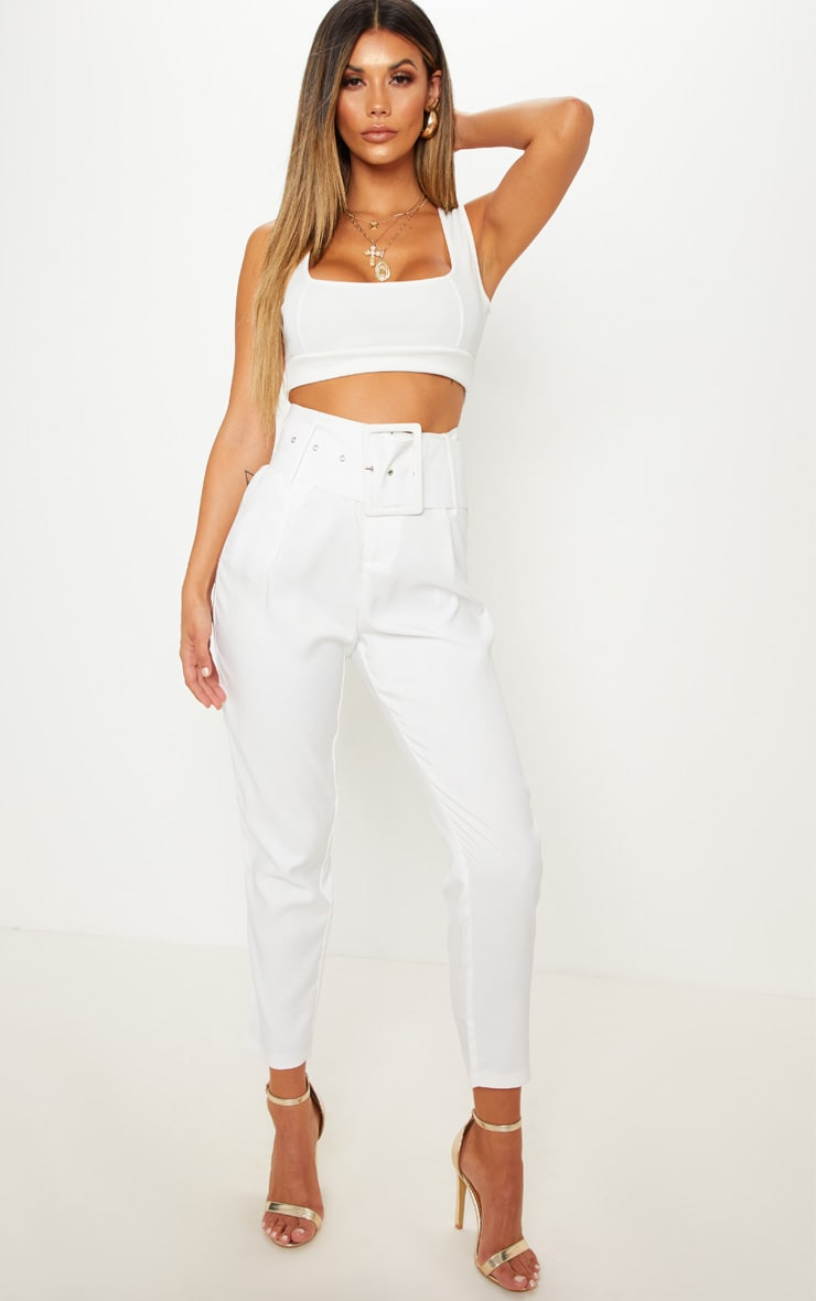 White Bandage Crop Top 5