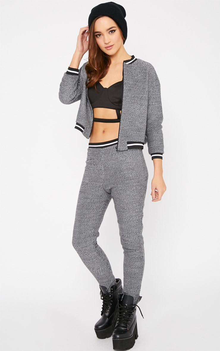 Hollie Grey Sporty Knitted Joggers 3