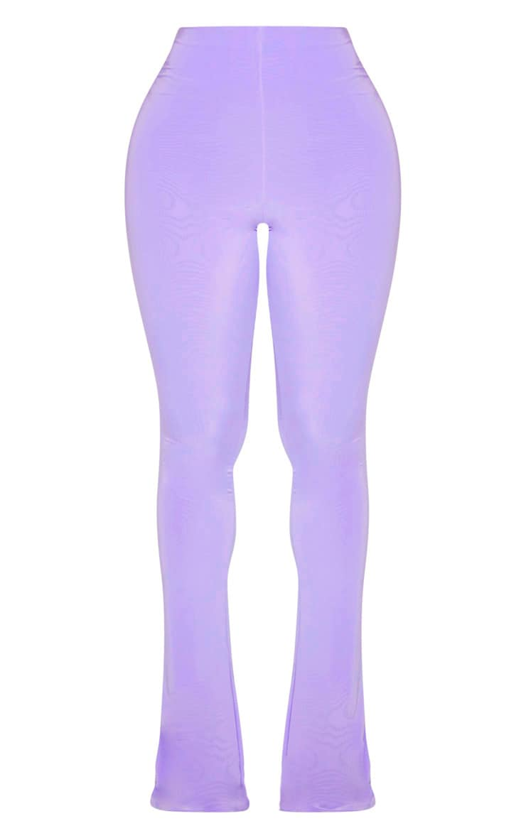 Shape Lilac High Waist Slinky Flared Trouser  3