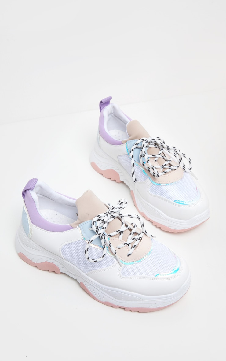 Lilac Pastel Chunky Trainer 4