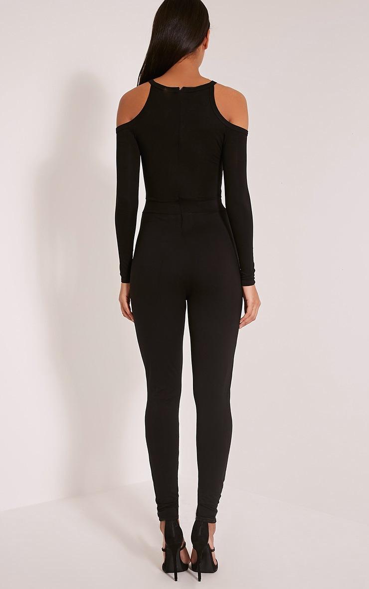 Bessy Black Cold Shoulder Jumpsuit 2