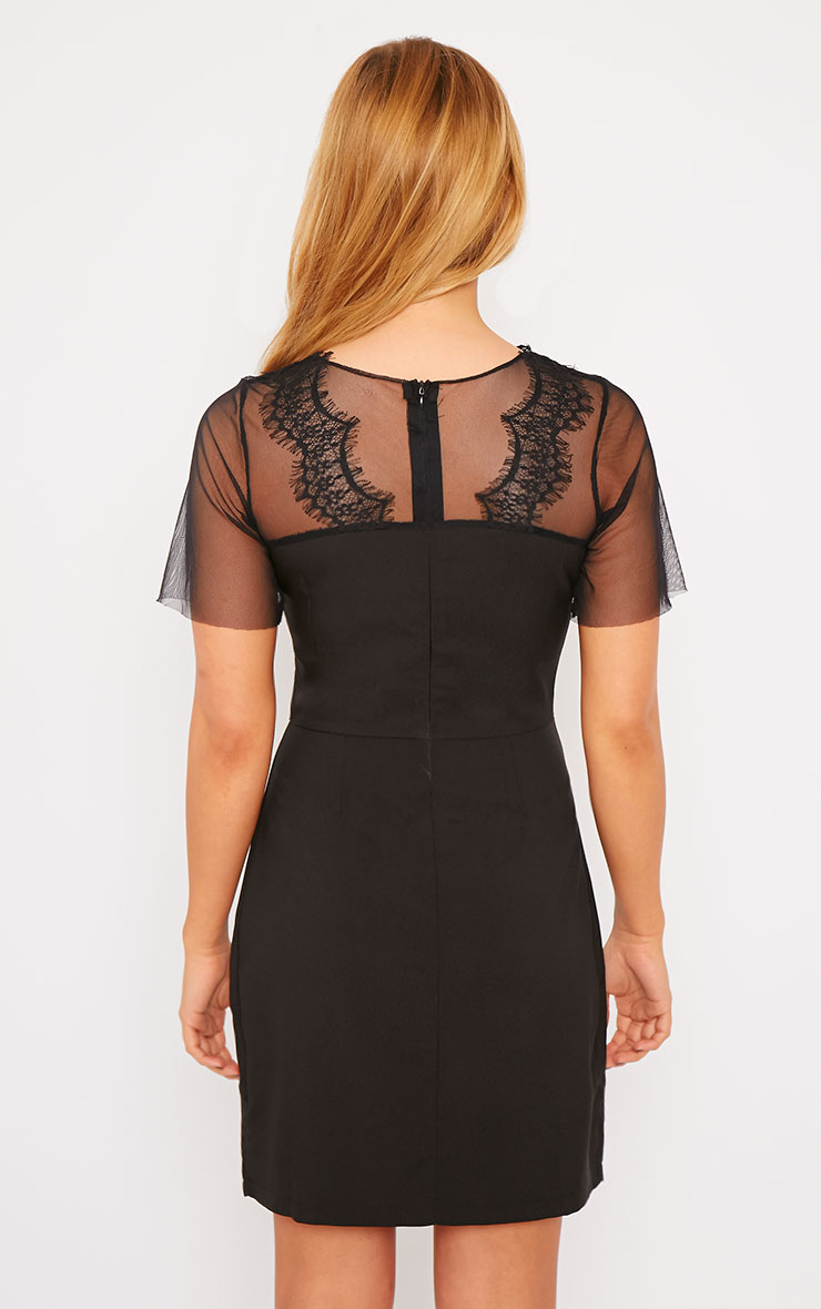 Lynae Black Lace Panel Dress 4