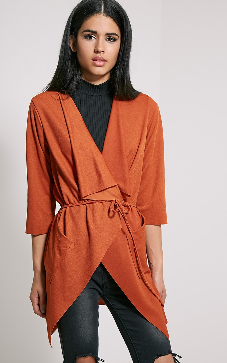 Siran Rust Belted Jacket 4
