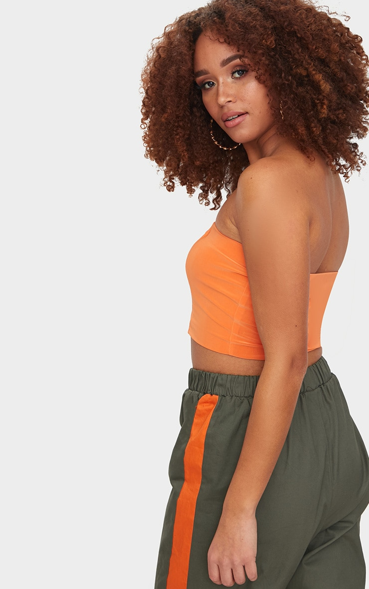 Crop top bandeau orange 2