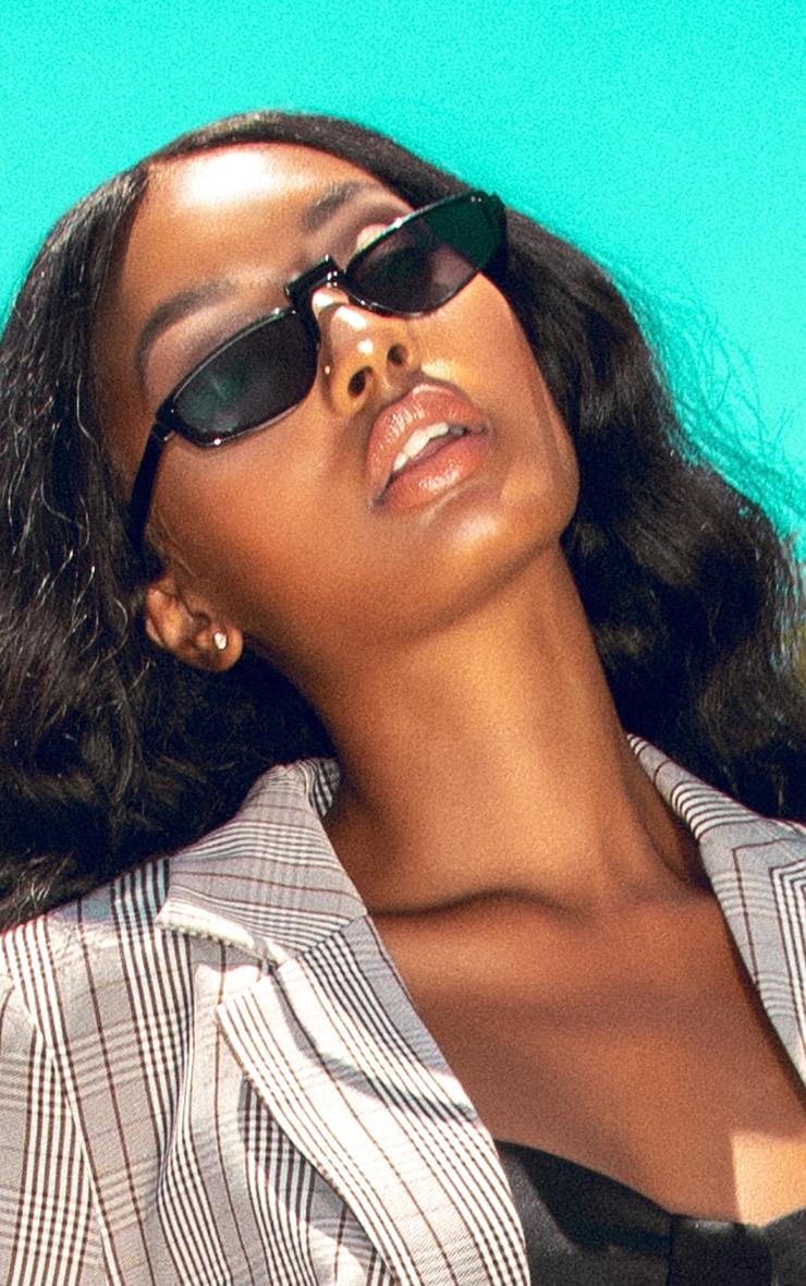 Black Thin Retro Sunglasses