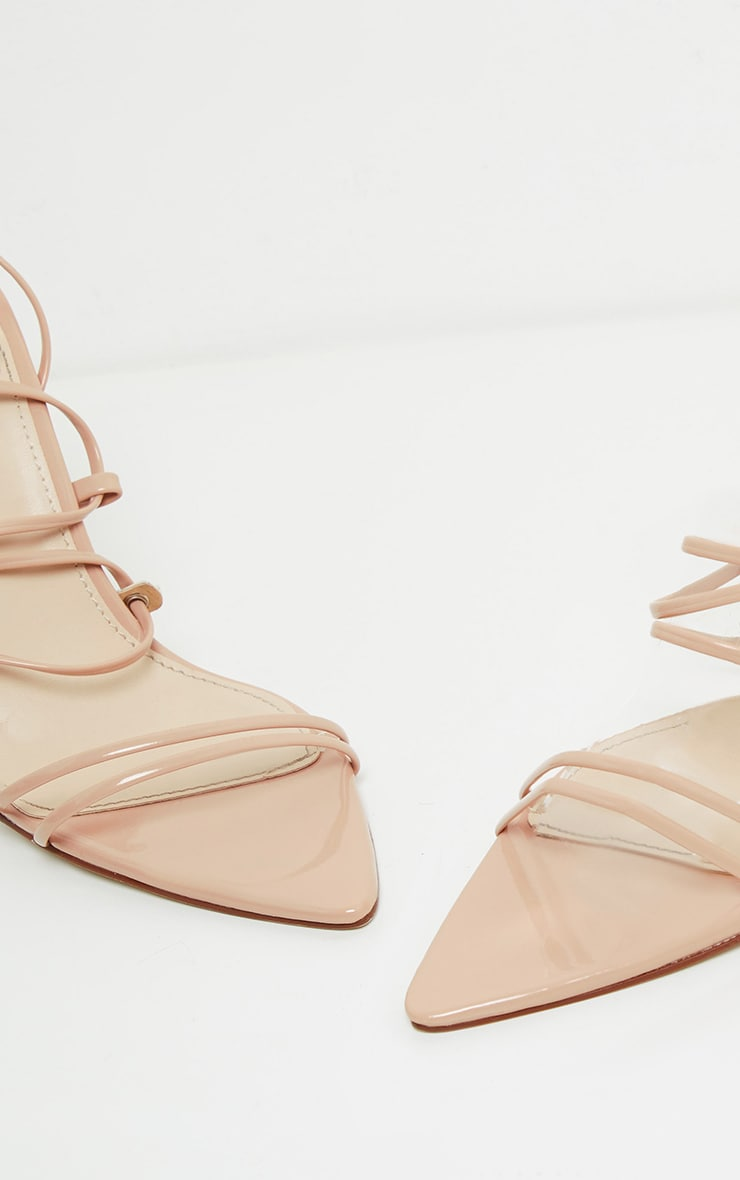 Nude Tube Strappy Point Toe Sandal 4