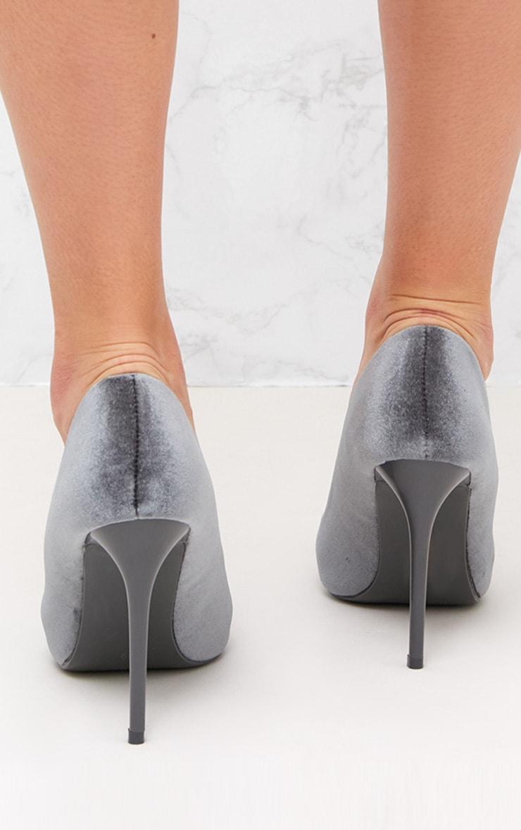 Grey Embellished Velvet Court 4