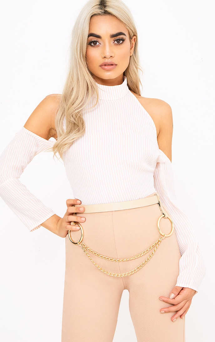 Nude Chain Attachment Waist Belt 1
