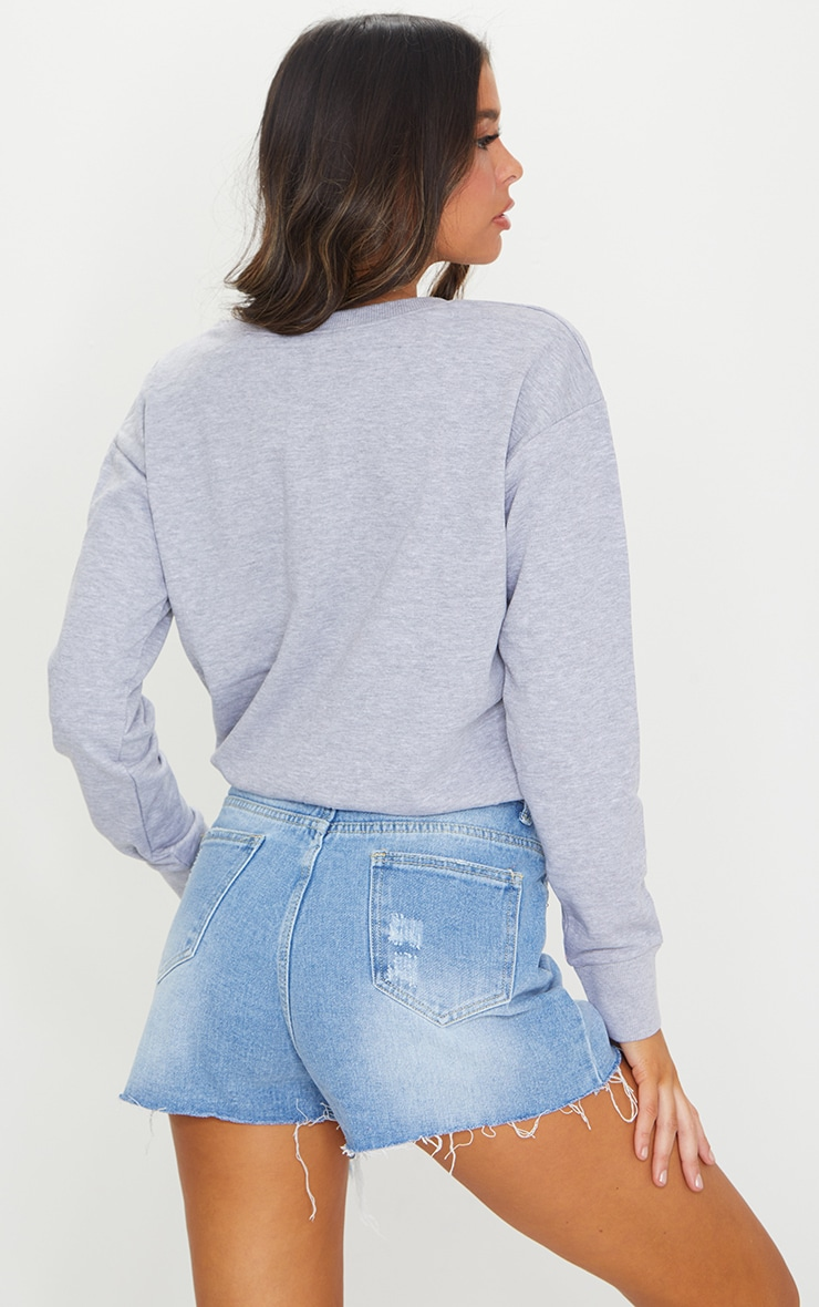 Grey Toggle Waist Sweater 2
