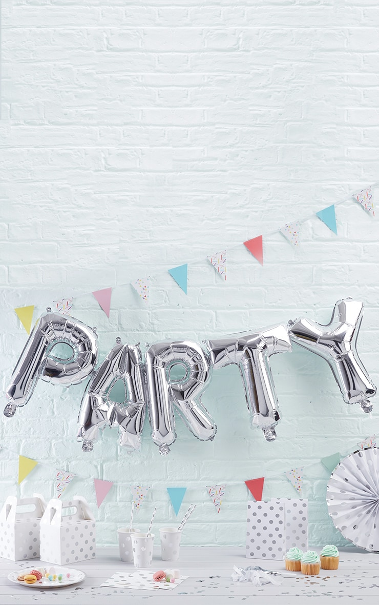 Gold 'Party' Balloon Bunting - ONE SIZE 1