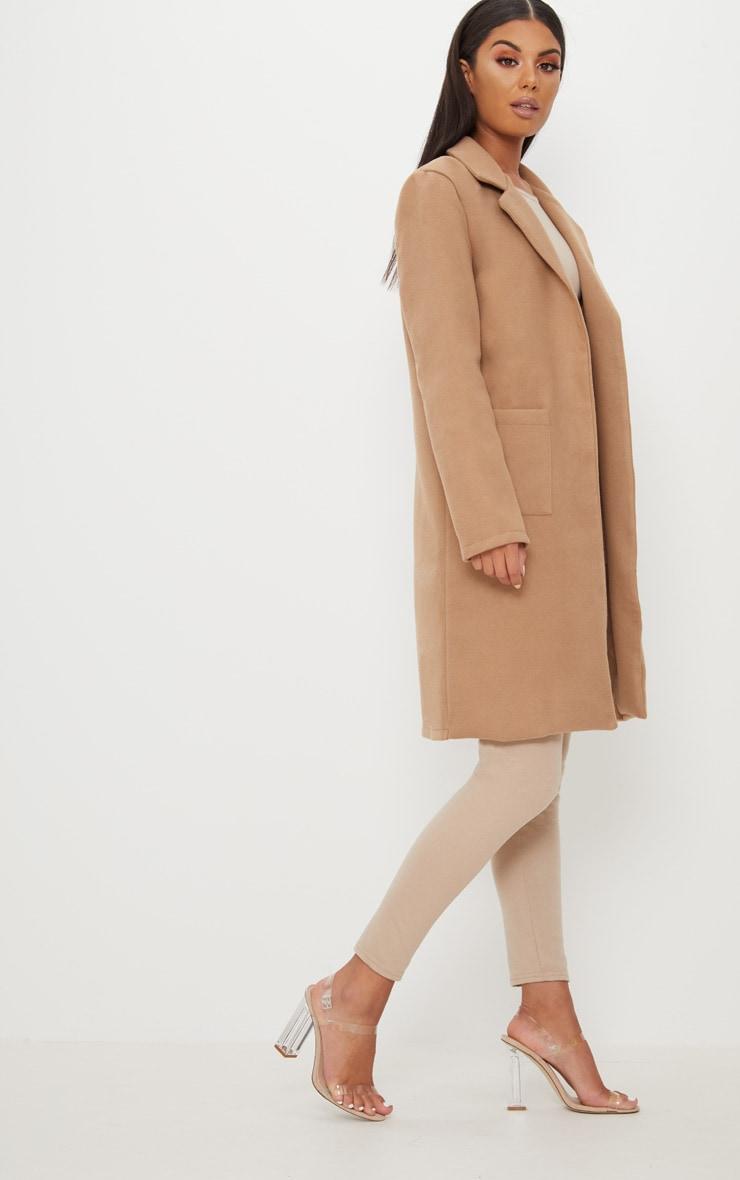 Beige Pocket Front Coat  4