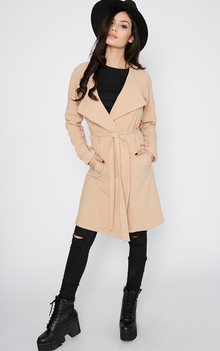 Ashia Camel Trench Coat 3