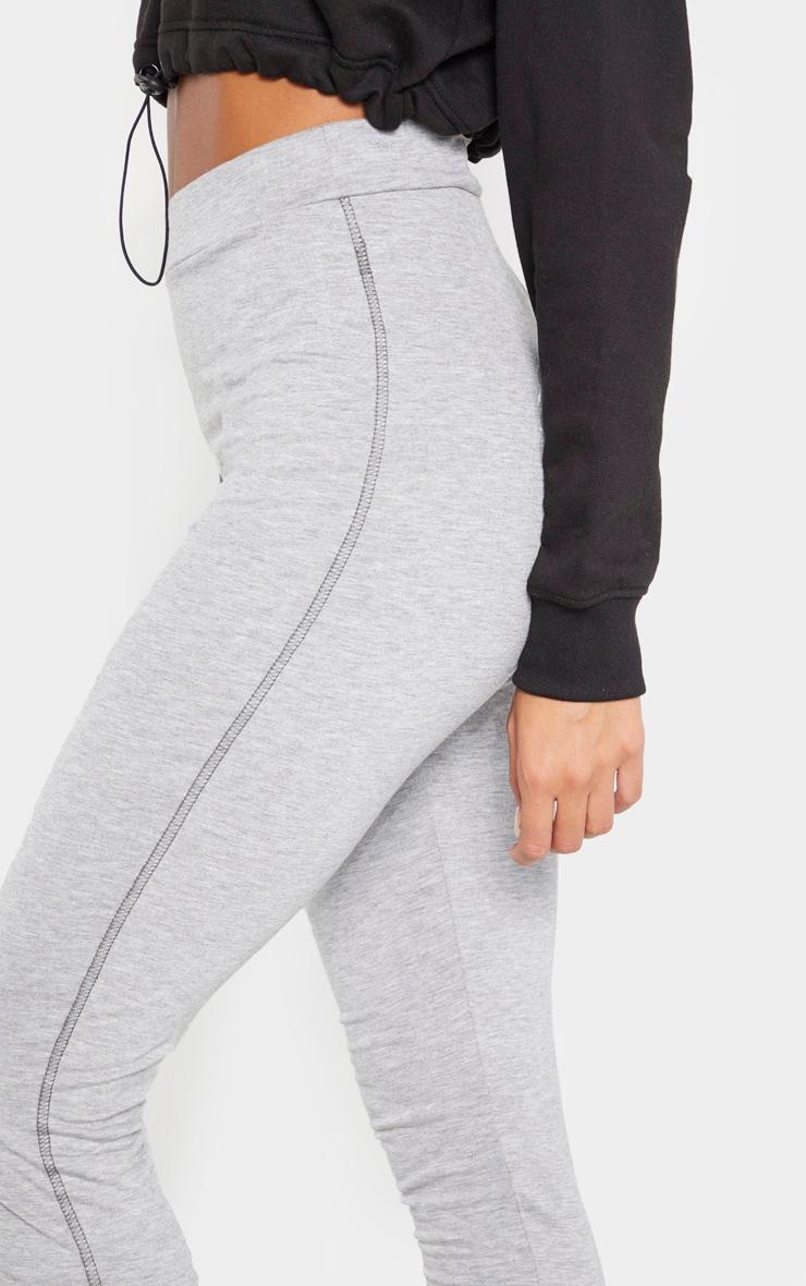 Grey Marl Contrast Stitch Legging 5