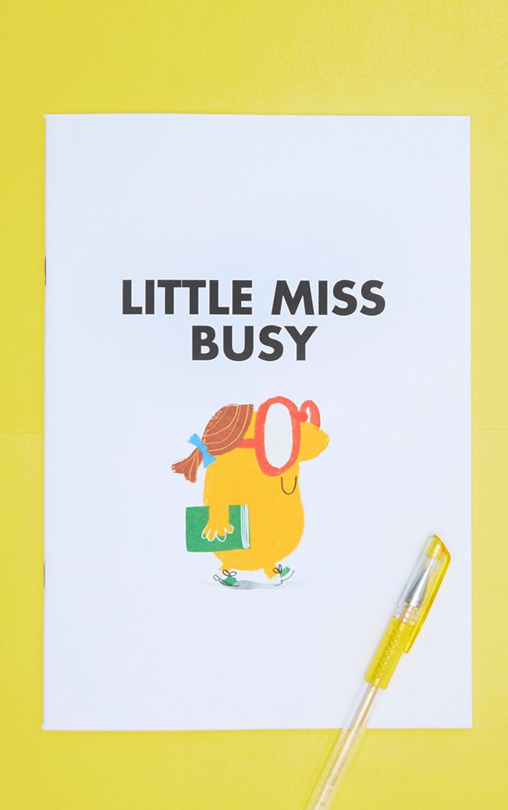 White Little Miss Busy A4ish Notebook