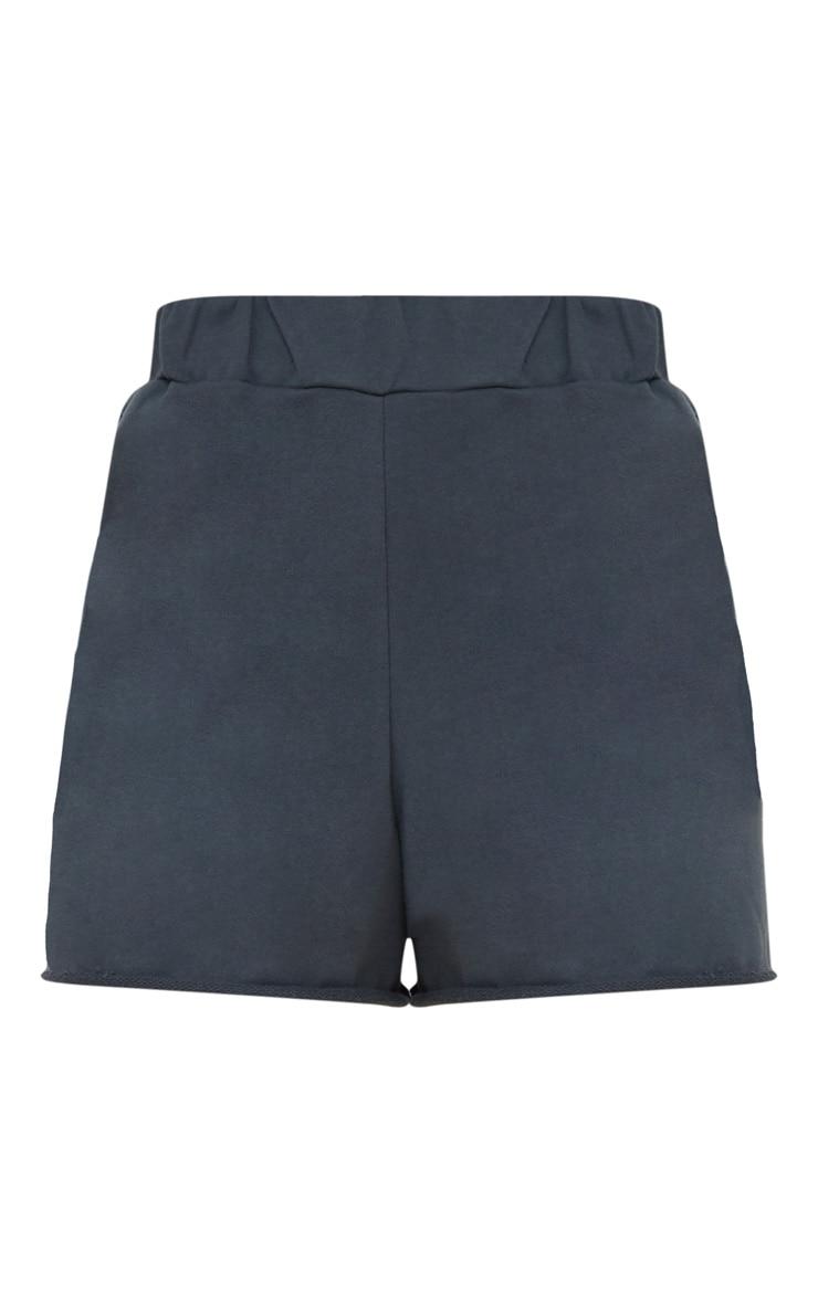 Petite Charcoal Raw Edge Shorts 3
