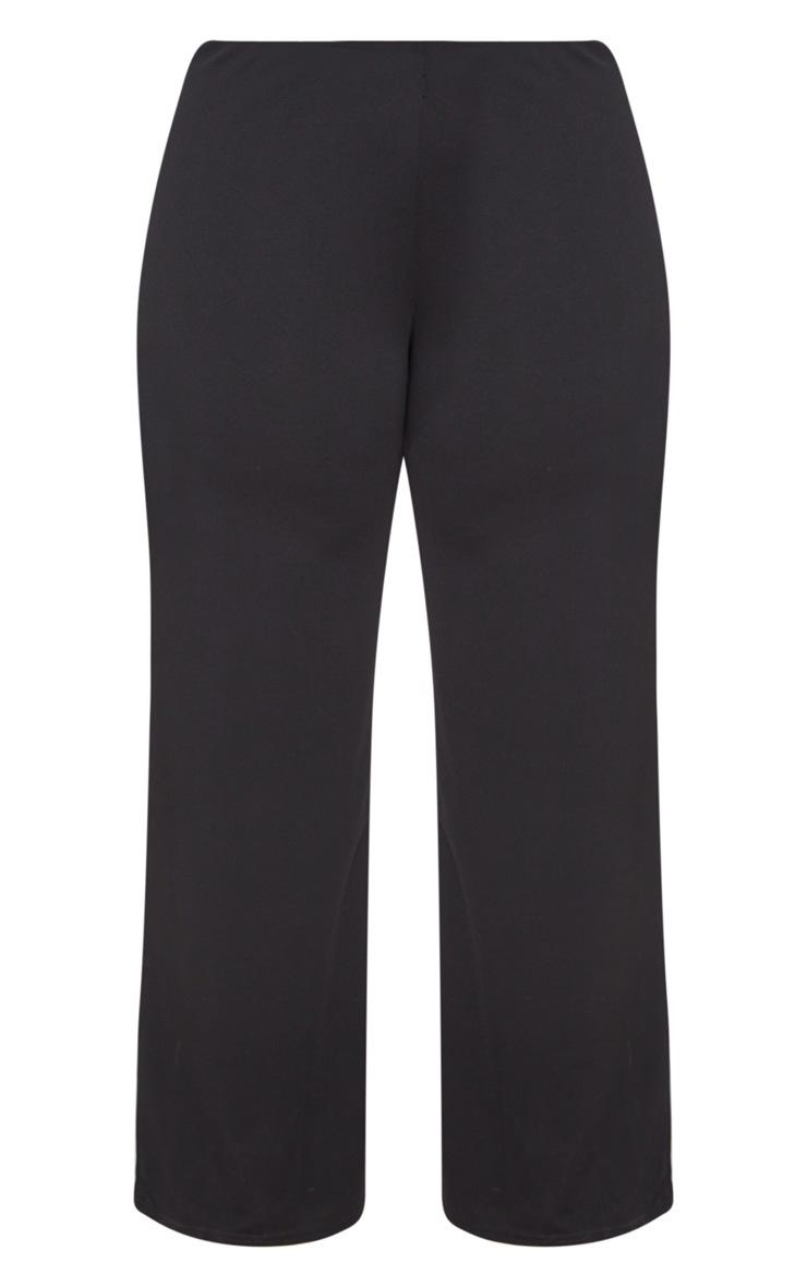 Plus Black High Waisted Wide Leg Trouser 3