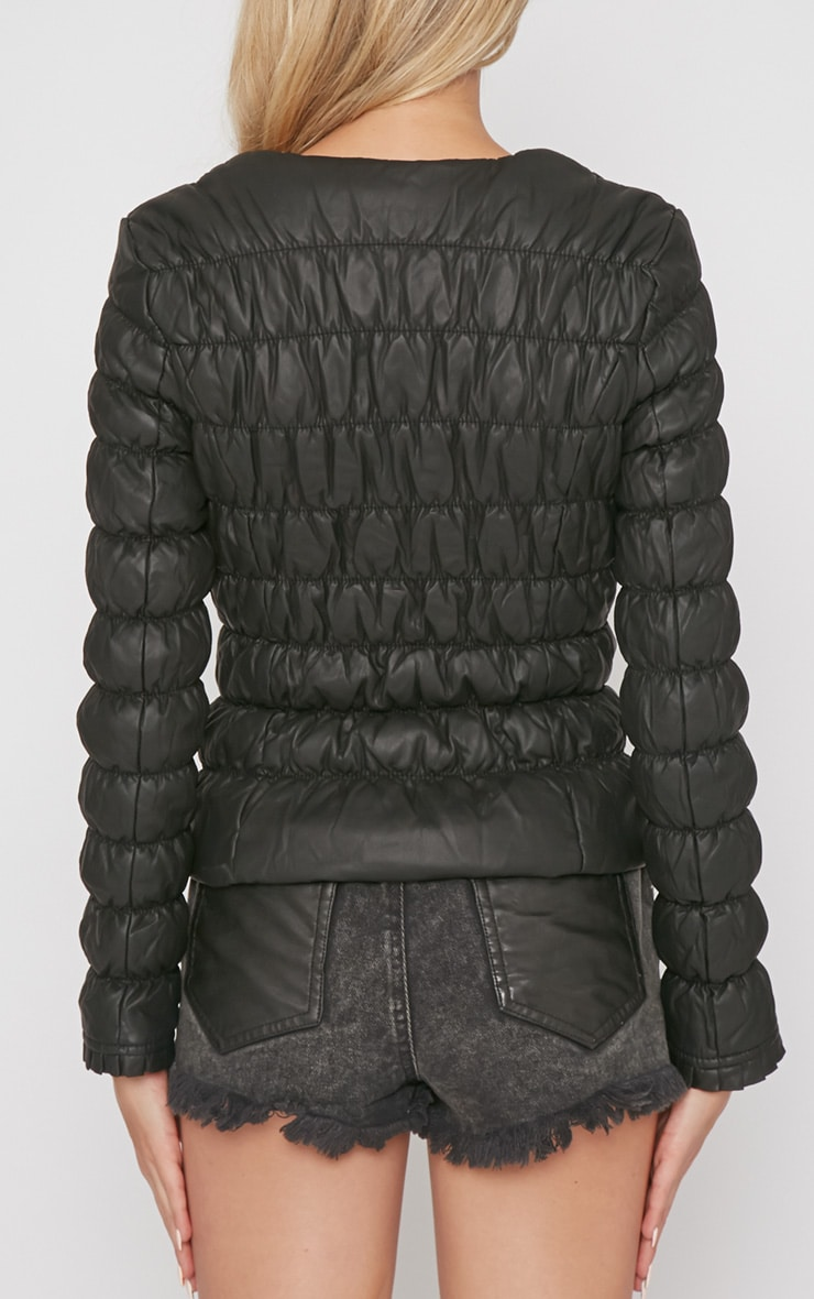Natasha Black Padded Jacket 2