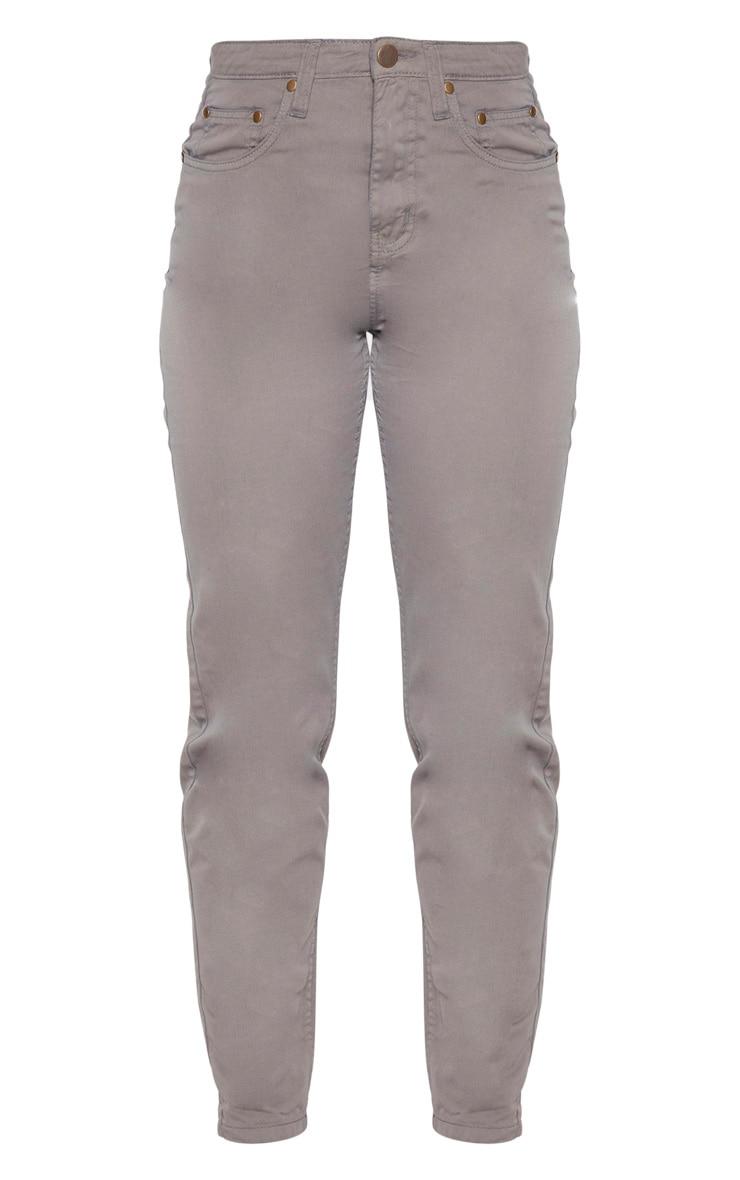 Tall Grey Denim Mom Jeans 3