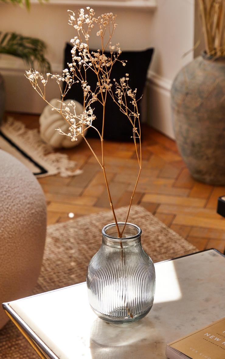 Grey Glass Round Vase 1