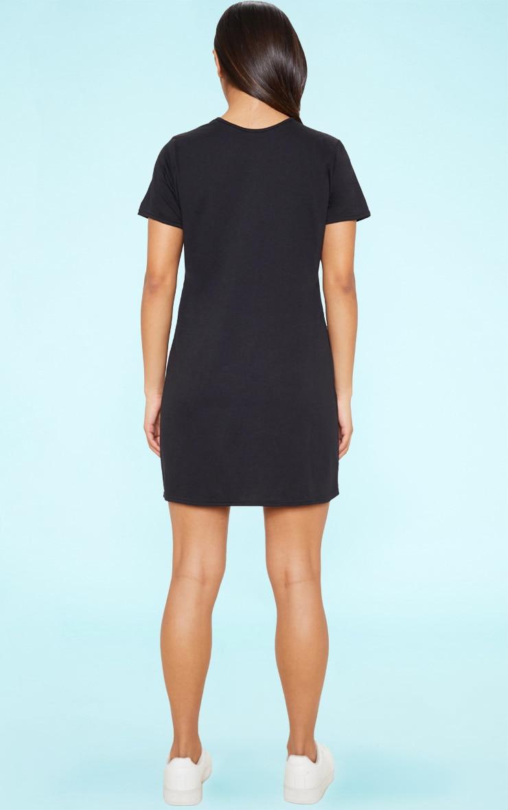 RECYCLED Black T Shirt Dress 4