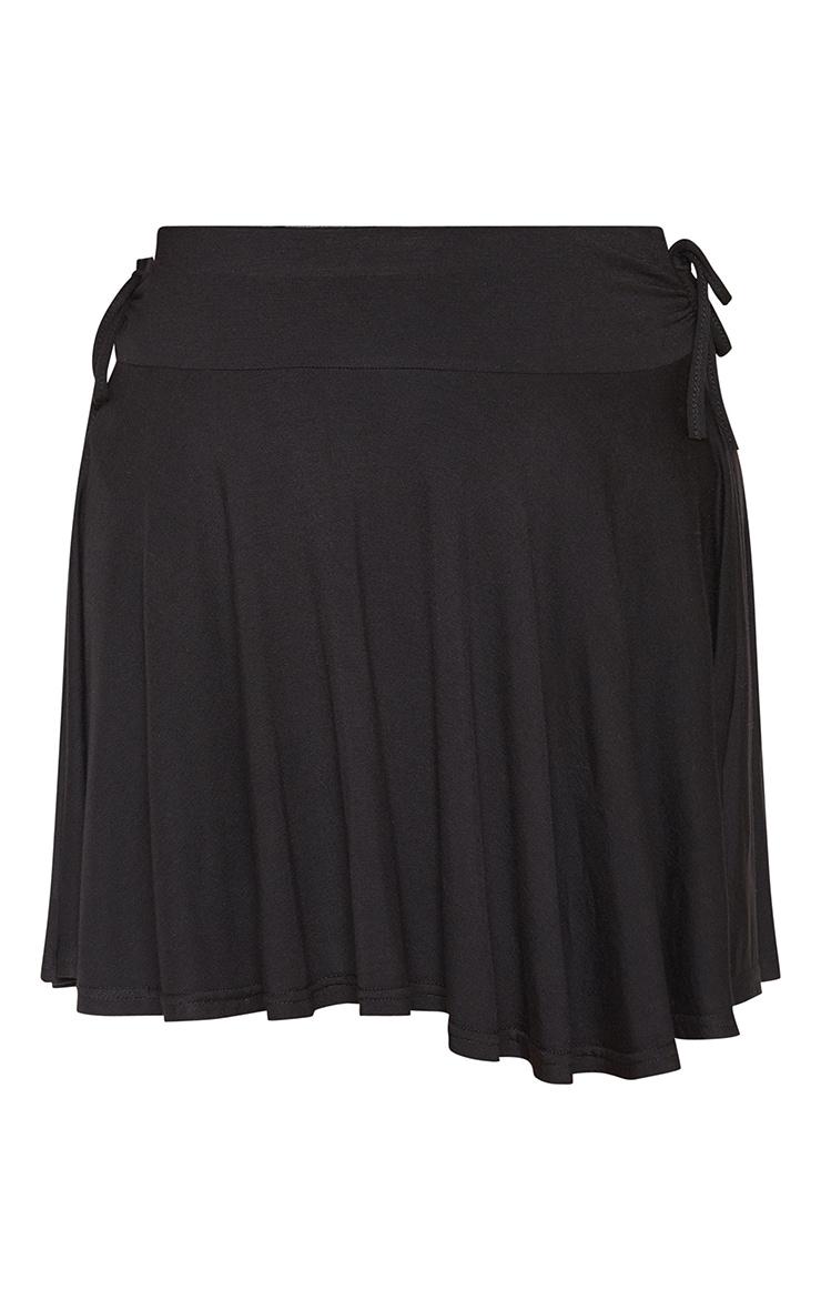 Jupe patineuse froncée noire à lien sur la taille 3