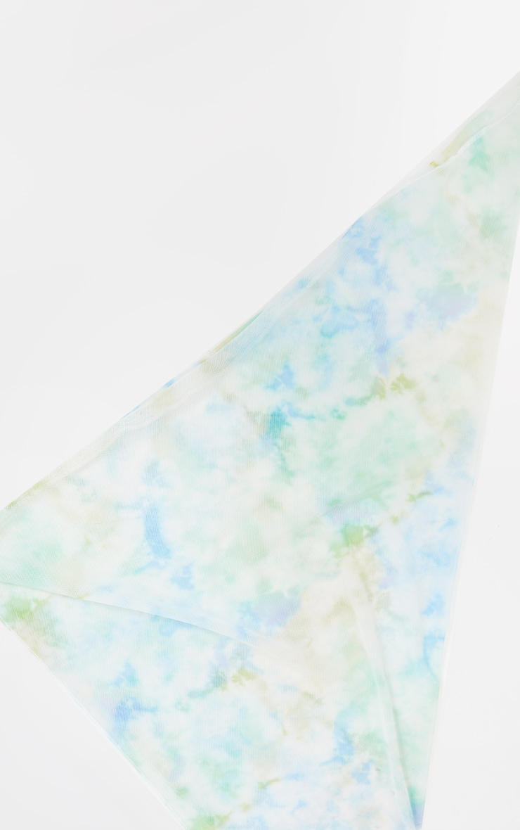 Blue And Yellow Tie Dye Bandana 3