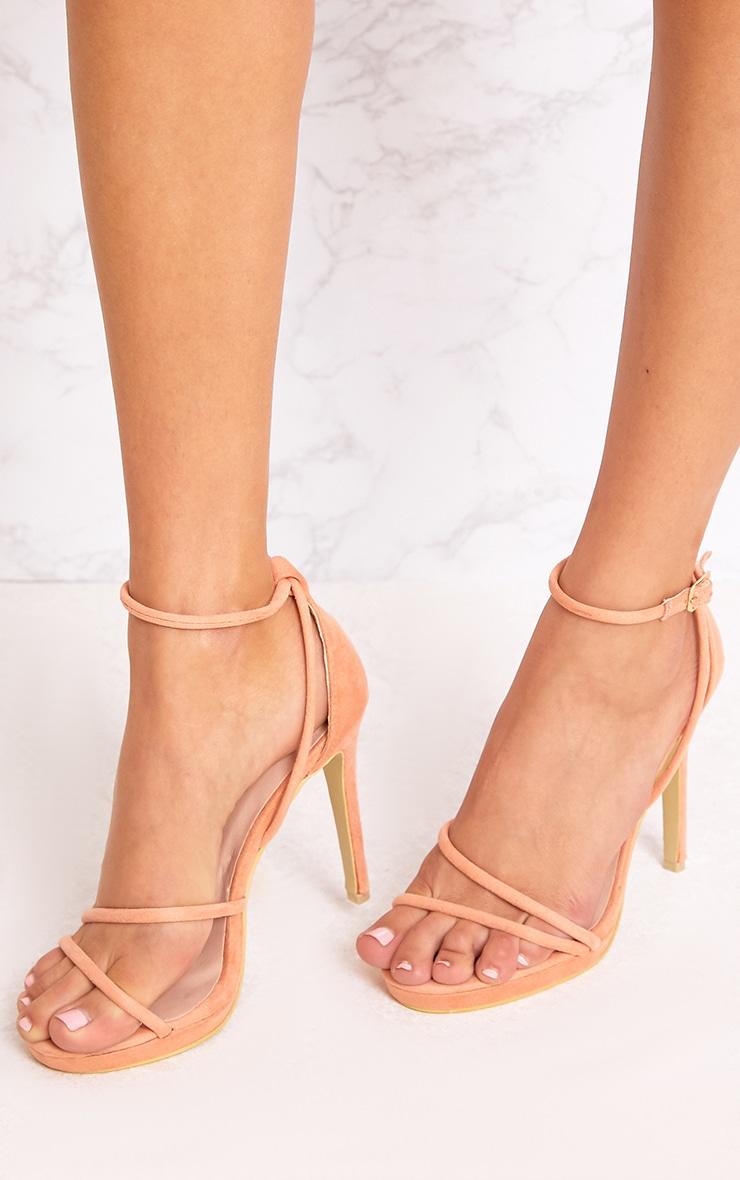 Peach Strappy Heels 2