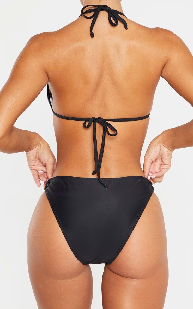 Bas de bikini noir à anneaux écaille de tortue 3