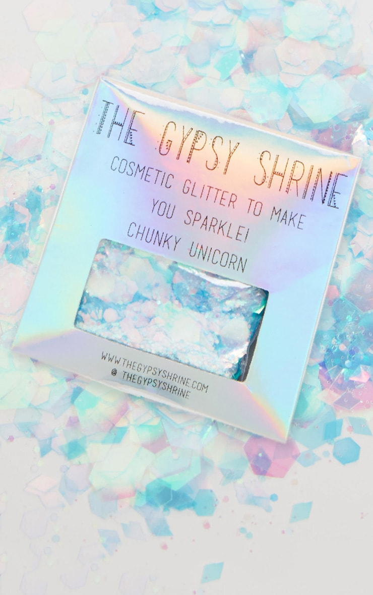 shrine chunky unicorn glitter bag