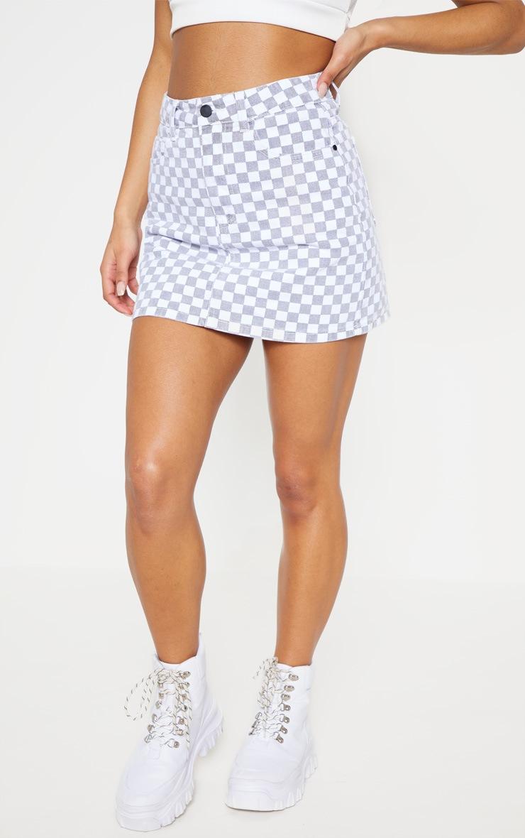 Monochrome Checkerboard Skirt  2