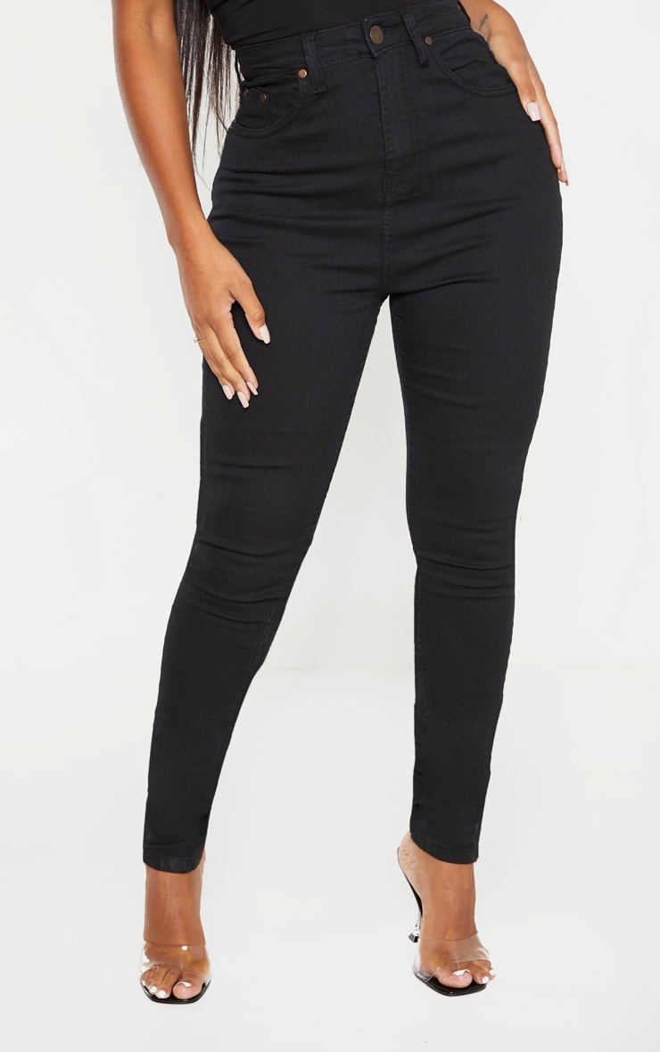 Shape Black High Waist Super Stretch Skinny Jeans 2