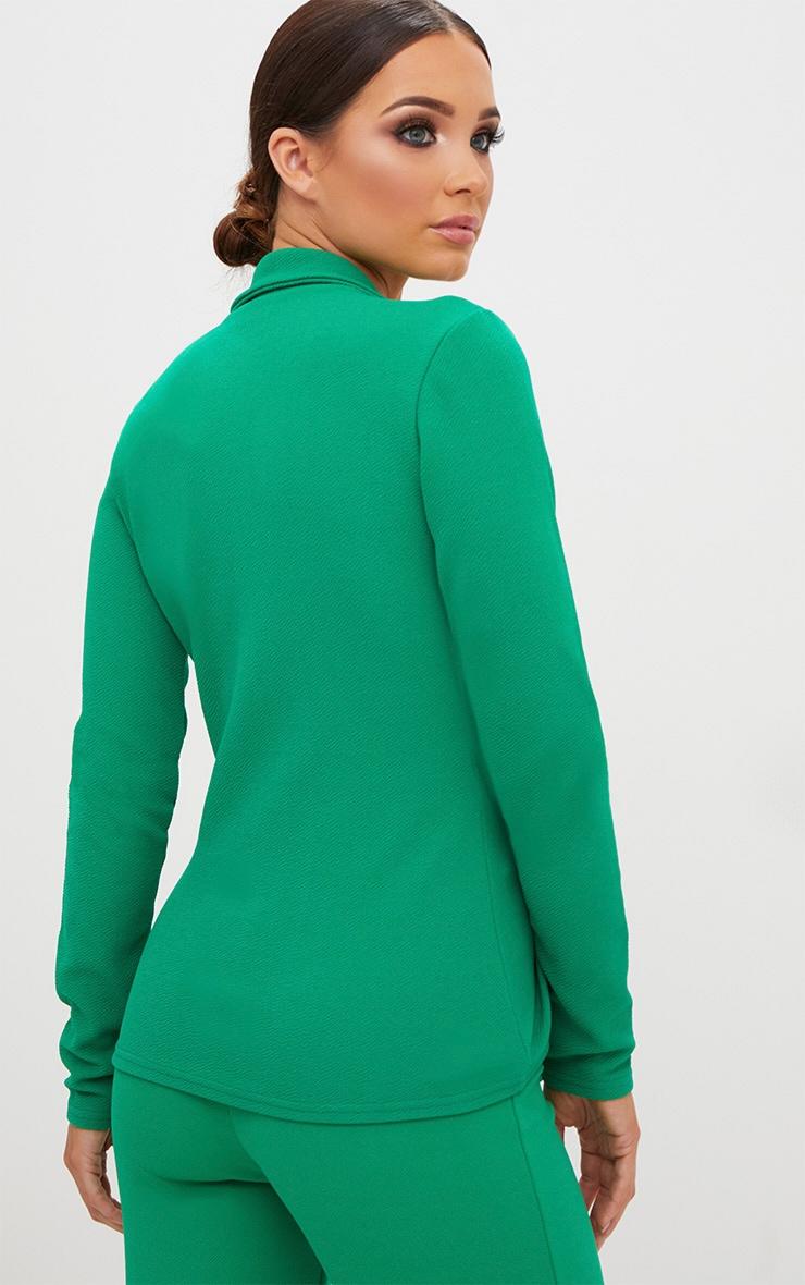 Emerald Green Tie Front Blazer 2
