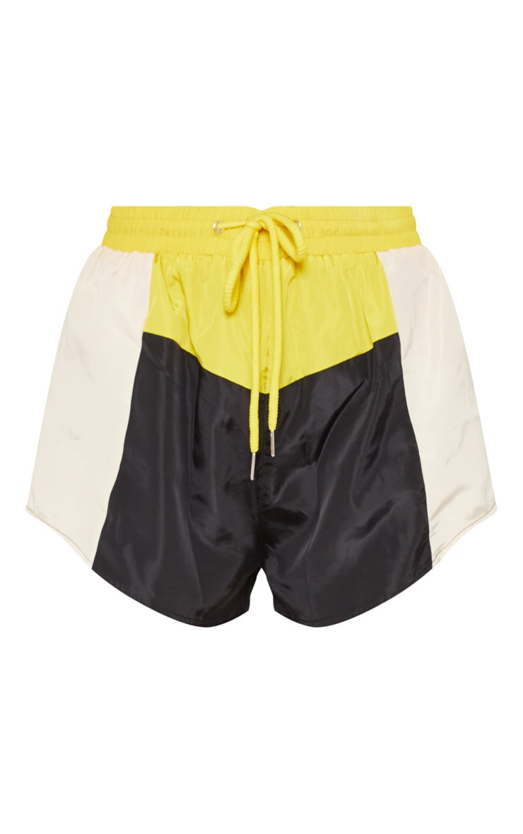 Cream Colour Block Shell Suit Short 3
