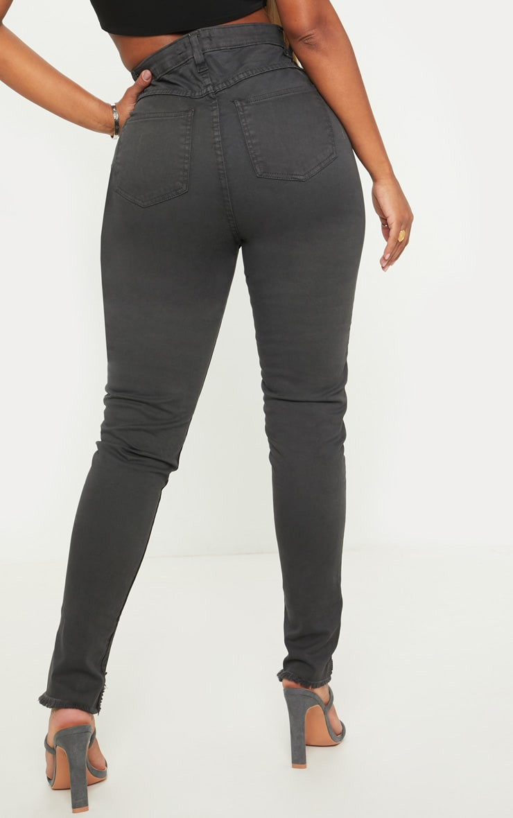Shape Charcoal High Waisted Skinny Jeans 4