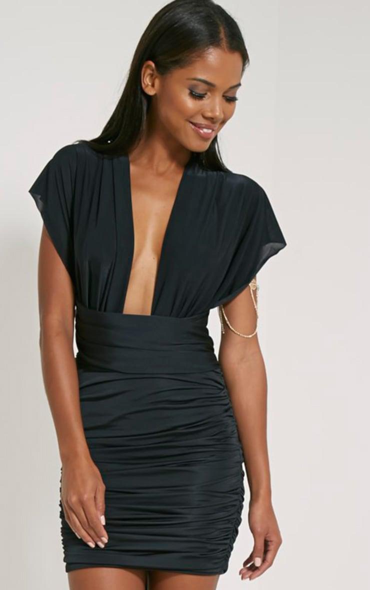 Katherine Black Multiway Mini Dress 2