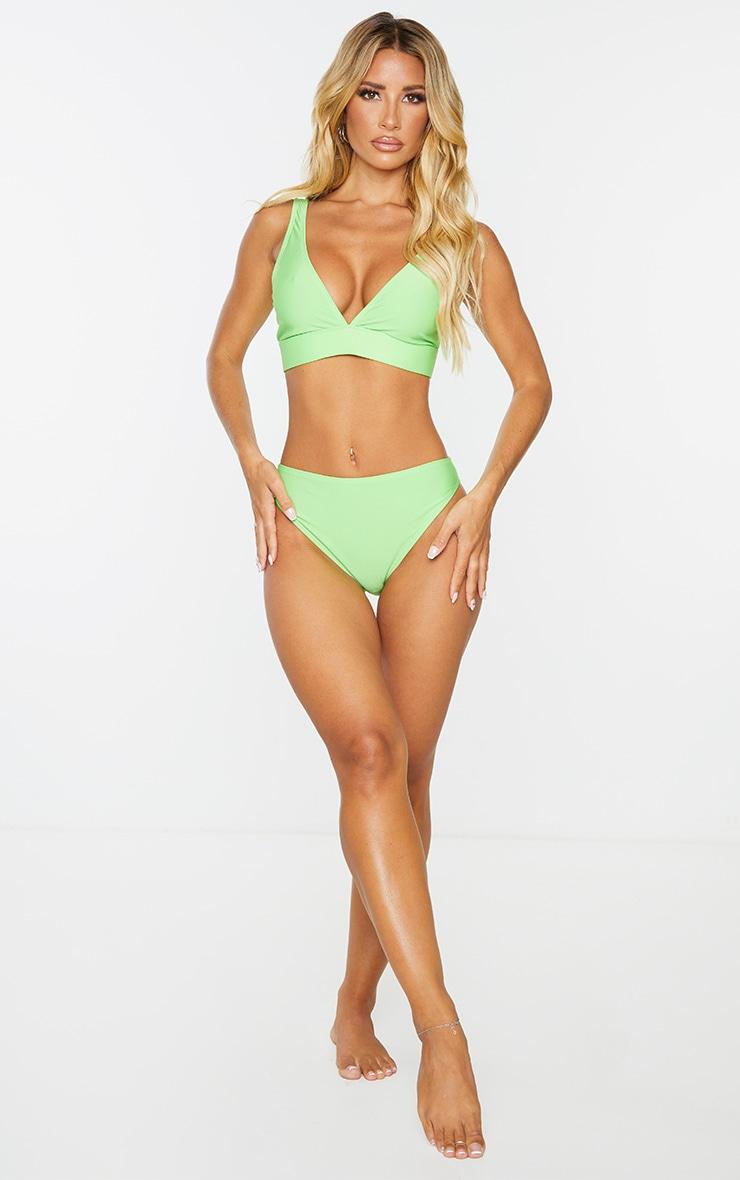 Green Mix & Match Recycled Cheeky Bum Bikini Bottoms 3