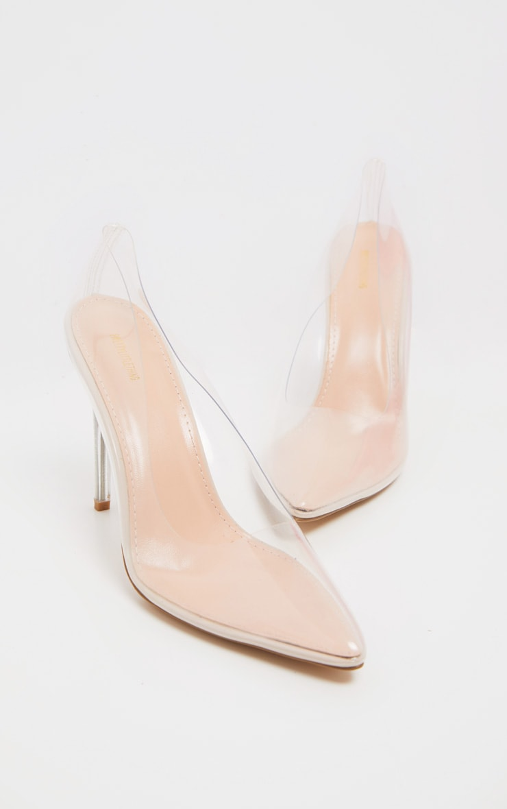 Clear Heeled Court Shoe 3