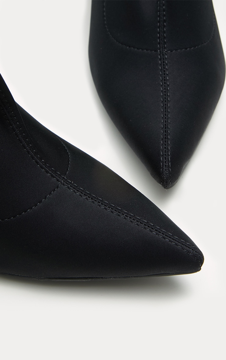 Black Over The Knee Neoprene Sock Boot 4