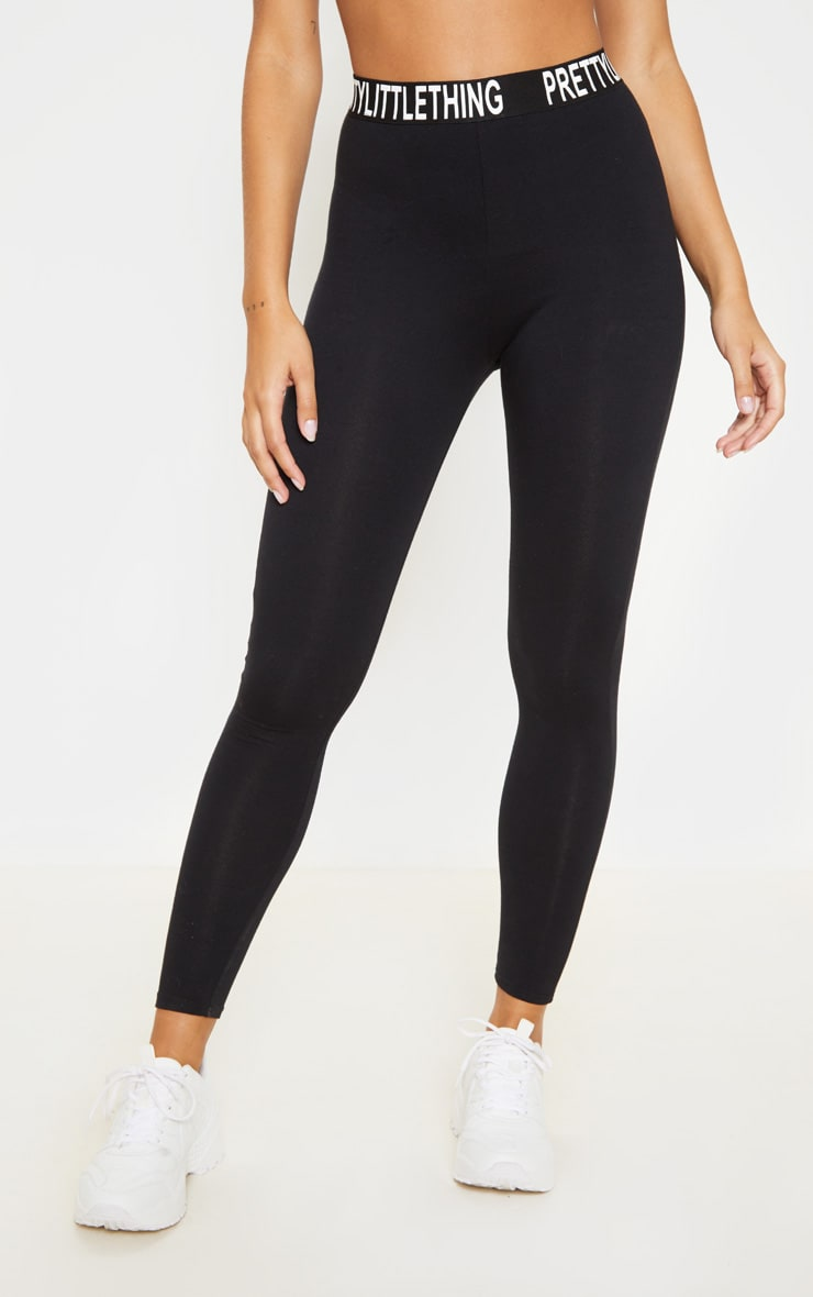PRETTYLITTLETHING Black High Waist Legging 2