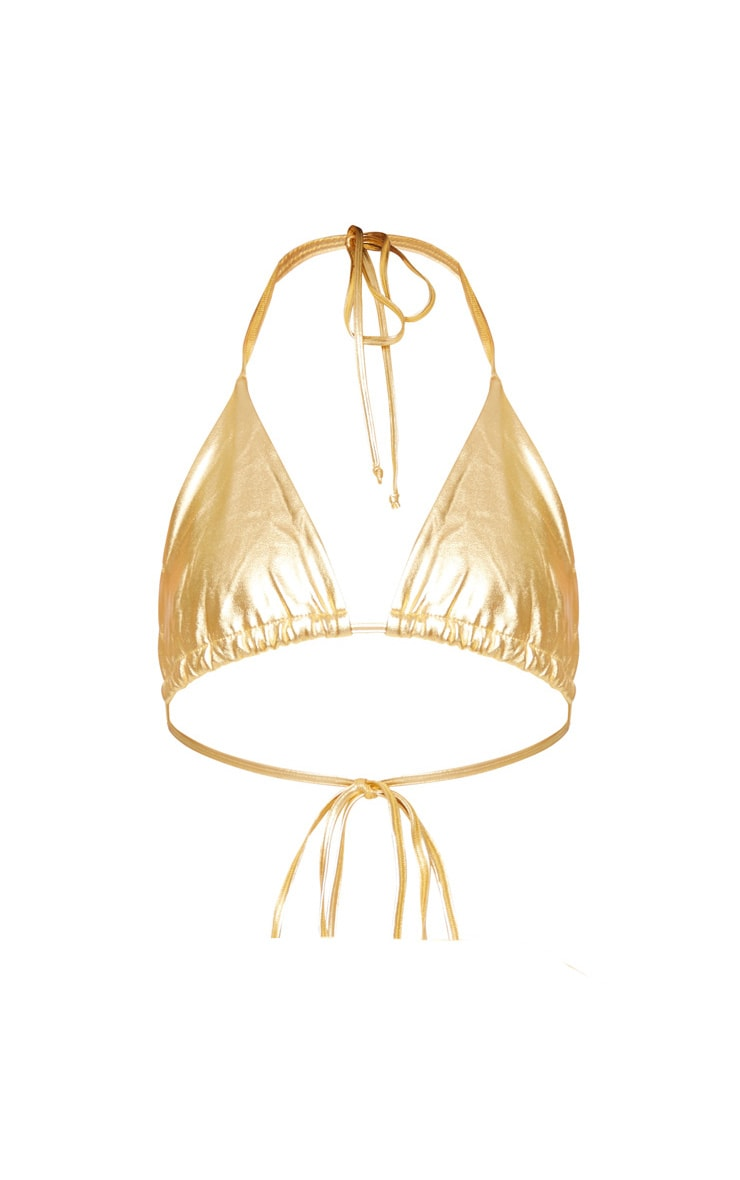 Plus Gold Triangle Bikini Top 5
