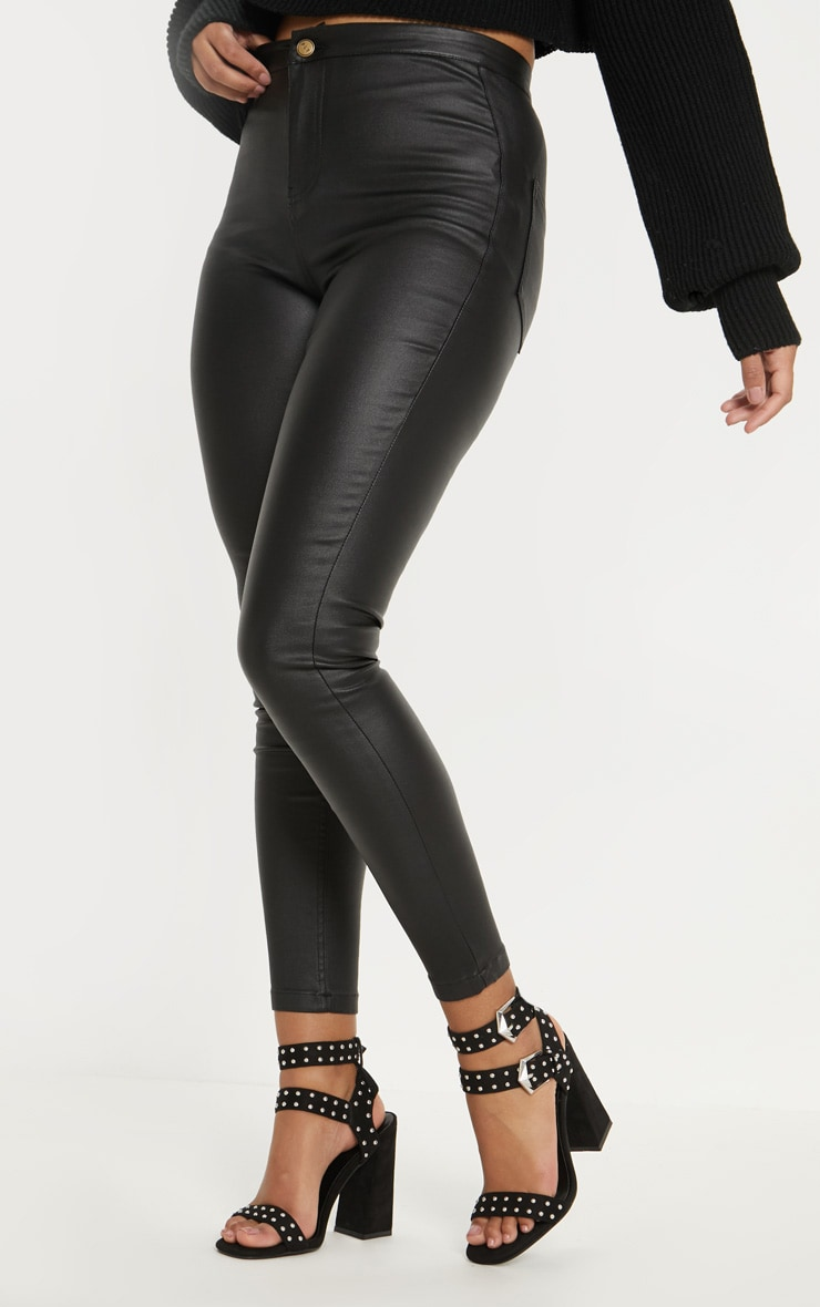 Black Buckle Detail Studded Block Heel Sandal 4
