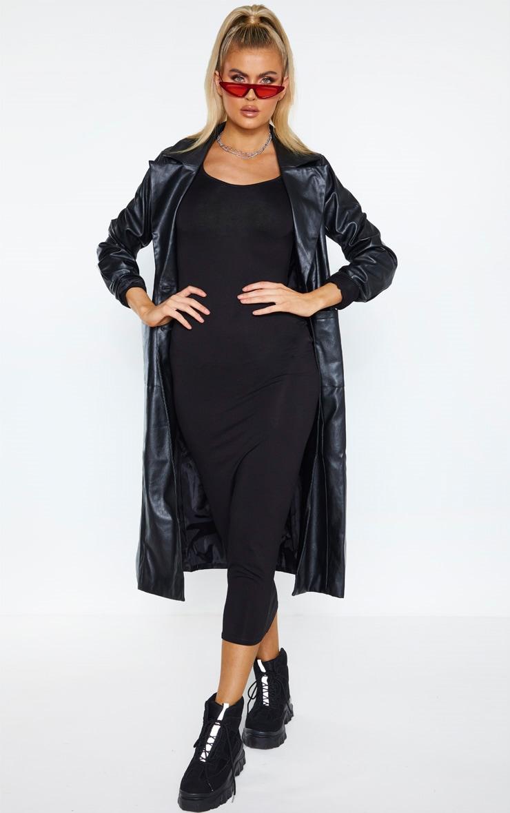 Tall - Robe longue en jersey noir à manches longues 3