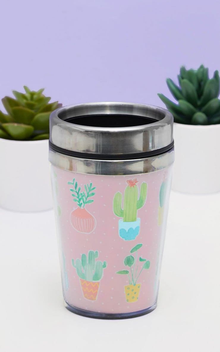 Sass And Belle Pastel Cactus Travel Mug