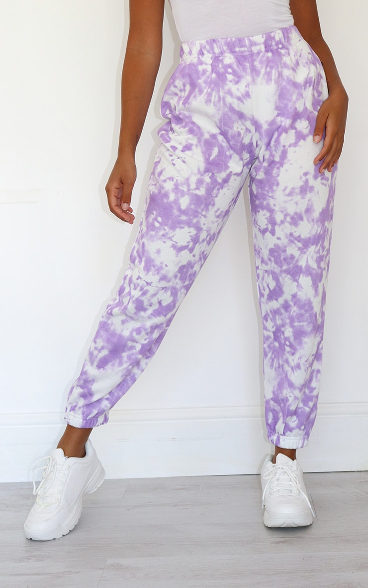 Petite Lilac Tie Dye Joggers 2