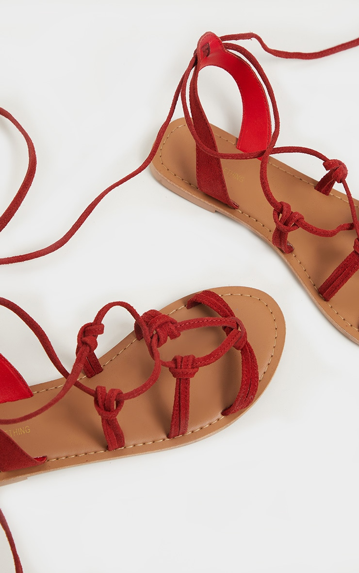 Red Knot Strappy Leather Sandal 3