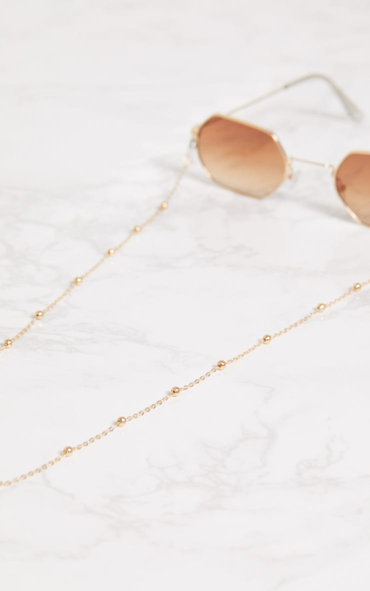 Gold Beaded Sunglasses Chain 4
