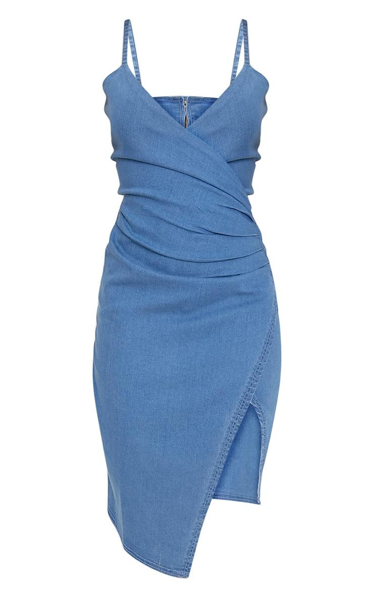 Amalia Blue Strappy Cami Denim Dress 4